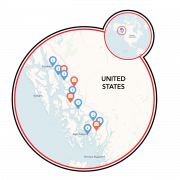 Alaska - Tongass Forest, Glaciers & Wildlife Map