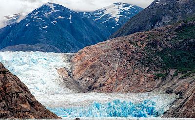 Glacier, Tracy Arm Fjord in Alaska. Flickr:David Goehring