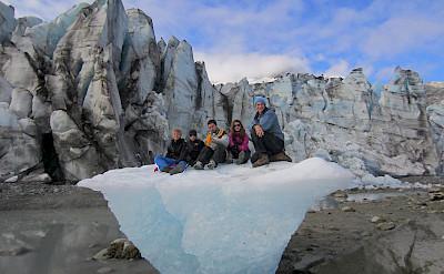 Family on ice, Alaska. ©TO
