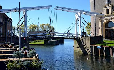 Biking the bridges of Friesland in the Netherlands. ©TO