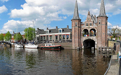 Famous gate in Sneek, Friesland, the Netherlands. ©TO