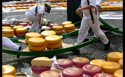 The famous cheese market in Alkmaar, North Holland, the Netherlands. Flickr:Manuel