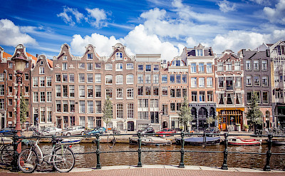 Boats, bikes, canals & gables in Amsterdam, North Holland, the Netherlands. Flickr:Andres nieto Porras