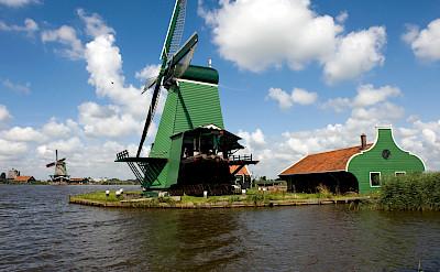 Windmills at the Zaanse Schans near Zaandam, the Netherlands. ©TO