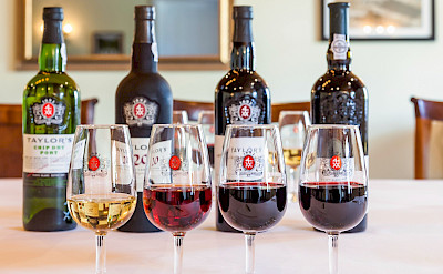 Wine tasting the famous Port in Portugal. CC:Wiki-portwine