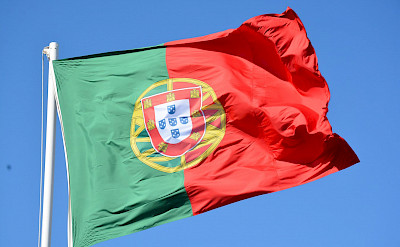The Portugal flag. Flickr:Paul Arps
