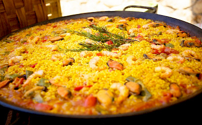 Paella is a Spanish specialty! Flickr:Jonathan Pincas