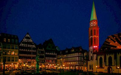Evening in Frankfurt-am-Mainz, Germany. Flickr:polybert49