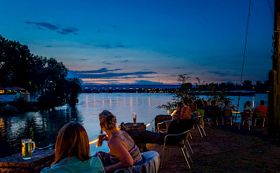 Outdoor dining along the river in Mainz, Germany. Flickr:Florian Christoph