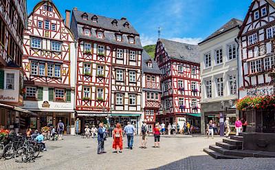 Half-timbered architecture in Bernkastel-Kues, Germany. Flickr:Frans Berkelaar