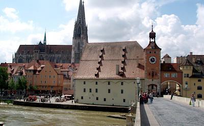 Along the river in Regensburg, Germany. Flickr:StefanM
