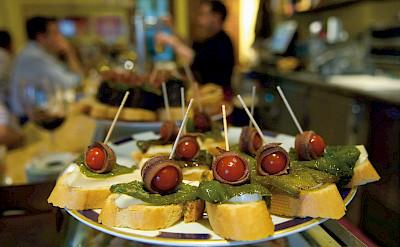 Tapas in Spain, of course! Flickr:PromoMadrid