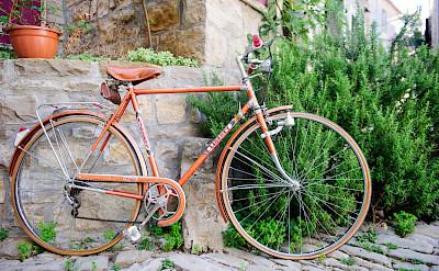 Biking through Grožnjan, Istria, Croatia. ©TO
