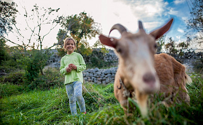 Meeting the locals in Istria, Croatia. ©TO