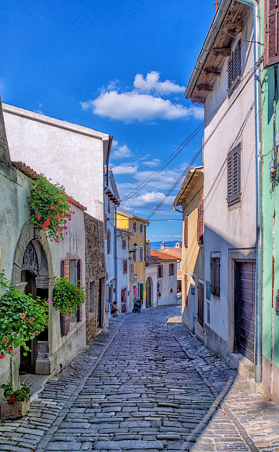 Cobblestone streets in Motovun, Istria, Croatia. Flickr:Arnie Papp