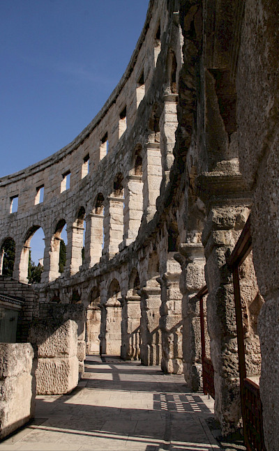 Ruins in Pula, Istria, Croatia. ©TO