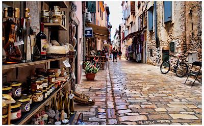 Cobblestone streets in Rovinj, Istria, Croatia. Flickr:Mario Fajt