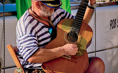Sailor stringing a tune in Istria, Croatia. ©TO