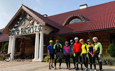 At Dwor Bartla by the Bierbza National Park on the Borderland of Lithuania, Poland, & Belarus Bike Tour.