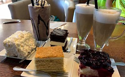 Desserts in Grodno, Belarus.