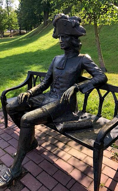 Sculpture in Grodno, Belarus.