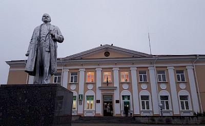 Statue of Lenin in Sopockin on the Lithuania, Poland & Belarus Bike Tour.