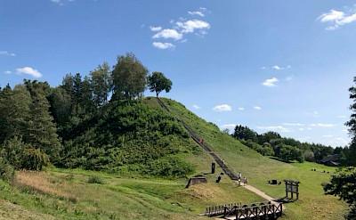 Merkine Mound Hill on the Lithuania, Poland & Belarus Bike Tour.