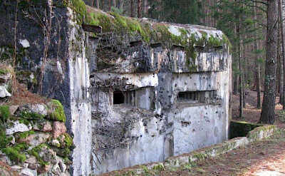 Molotov line fortifications on the Lithuania, Poland & Belarus Bike Tour.