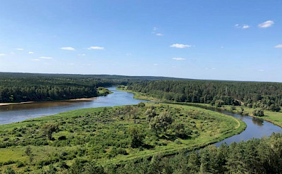 The beautiful Nemunas River on the Lithuania, Poland & Belarus Bike Tour.
