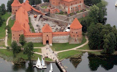 Trakai Island Castle in Lithuania.