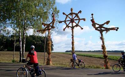 Enjoying the view on the Lithuania, Poland & Belarus Bike Tour.