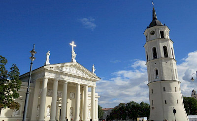 The famous Vilnius Cathedral in the capital city of Lithuania.