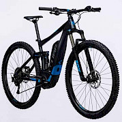 Full suspension electric mountain bike