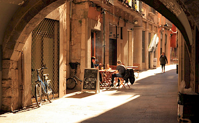 Bike rest in Girona, Spain. Flickr:Muffinn