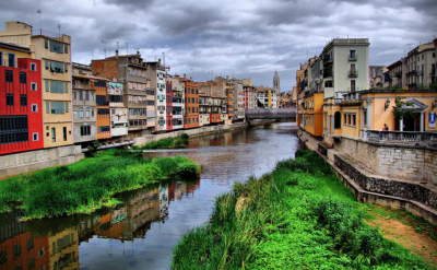 Old Town in Girona, Spain. Flickr:xlibber