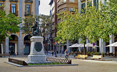 Independence Square in Girona, Spain. CC:Jojan