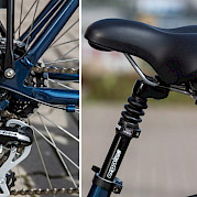 Touring bike saddle
