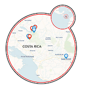 Celebrate Costa Rica Map