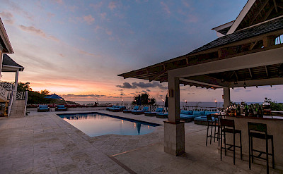 Haystack Sunset At The Pool 1