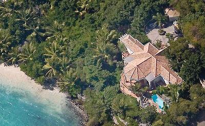 B Peter Bay Beach Villa Aerial 1