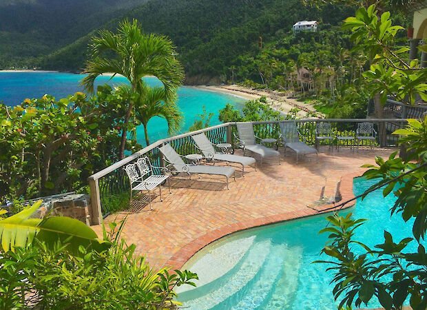 B Peter Bay Beach Villa Pool Deck