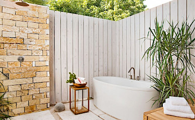 Sailrock Resort Beachfront Villas Outdoor Shower Garden 1