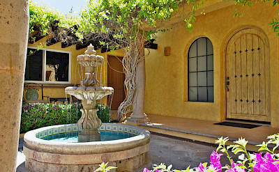 Agave Azul Luxury Villa For Rent In Cabo View Of Casitas And Courtyard Lifestyle Villas L