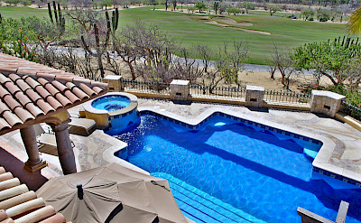 Agave Azul Villa For Rent In Cabo Del Sol Lifestyle Villas Para La Renta Lifestyle Villas View Of Pool Area And Golf Course L