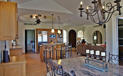 Villa Agave Azul Remodeled Kitchen Living Area Luxury Rental In Cabo Del Sol Lifestyle Villas L
