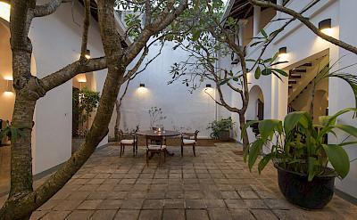 Ambassadors House Galle Courtyard At Dusk