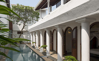 Ambassadors House Galle Pool And Bedrooms