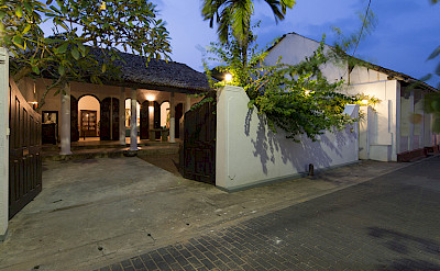Ambassadors House Galle Entrance At Night