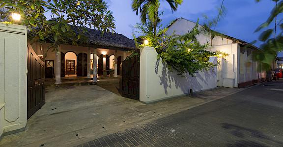 Ambassadors House Galle Entrance At Night
