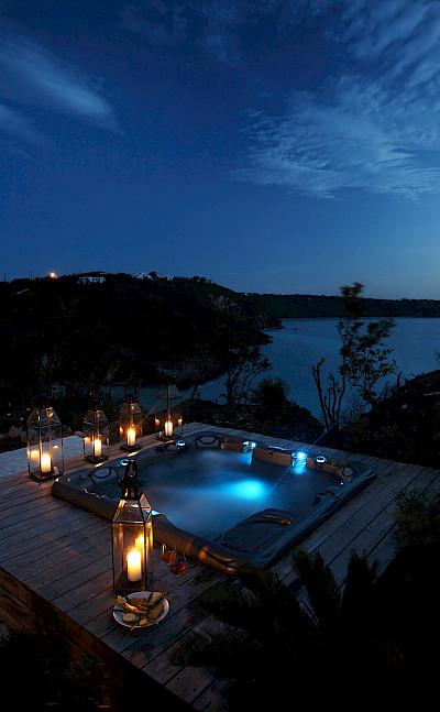 Ani Villas Anguilla Hot Tub Night